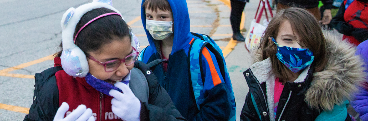 South Union Students Wearing Masks